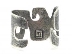 Melanie A Yazzie Grandmother Silver Cuff bracelet designed by Melanie Yazzie Navajo - 877746