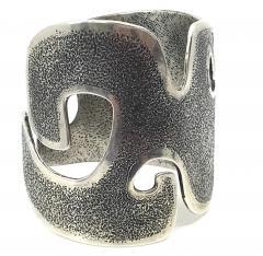 Melanie A Yazzie Grandmother Silver Cuff bracelet designed by Melanie Yazzie Navajo - 877748
