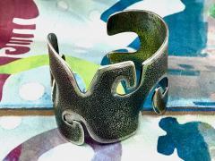 Melanie A Yazzie Grandmother Silver Cuff bracelet designed by Melanie Yazzie Navajo - 877752