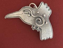 Melanie A Yazzie Hummingbird Pendant - 499527