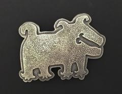 Melanie A Yazzie Rez Dog Silver Pendant - 504266