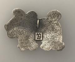 Melanie A Yazzie Rez Dog Silver Pendant - 504267