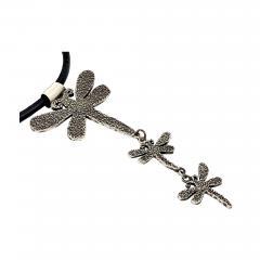 Melanie A Yazzie Trust Believe Dream Dragonfly Drop necklace pendant Melanie Yazzie designs - 878886