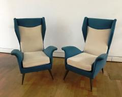 Melchiorre Bega 1950s Pair of Armchairs with Very High Back - 450748