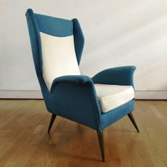 Melchiorre Bega 1950s Pair of Armchairs with Very High Back - 450749