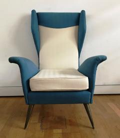 Melchiorre Bega 1950s Pair of Armchairs with Very High Back - 450753