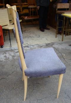 Melchiorre Bega A rare set of six sycamore dining chairs by Melchiorre Bega Italy 1970 - 918449