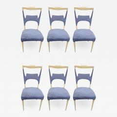 Melchiorre Bega A rare set of six sycamore dining chairs by Melchiorre Bega Italy 1970 - 921241