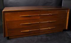Melchiorre Bega Italian Modern Walnut 6 drawer Dresser Melchiorre Bega - 1392941