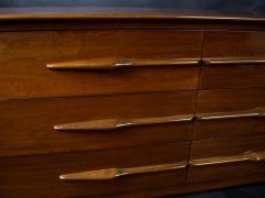 Melchiorre Bega Italian Modern Walnut 6 drawer Dresser Melchiorre Bega - 1392943