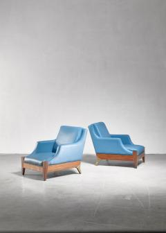 Melchiorre Bega Melchiorre Bega pair of lounge chairs Italy 1940s - 907886