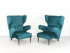 Melchiorre Bega Pair of Italian armchairs renovated 50 years original  - 958159