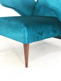 Melchiorre Bega Pair of Italian armchairs renovated 50 years original  - 958160