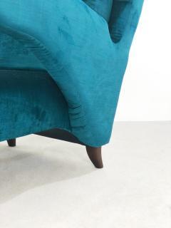 Melchiorre Bega Pair of Italian armchairs renovated 50 years original  - 958161