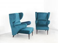 Melchiorre Bega Pair of Italian armchairs renovated 50 years original  - 958162