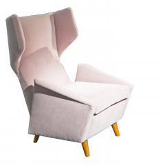 Melchiorre Bega Pair of armchairs in light pink velvet by Melchiorre Bega circa 1950 - 1061536