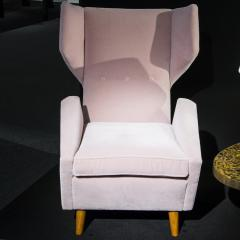 Melchiorre Bega Pair of armchairs in light pink velvet by Melchiorre Bega circa 1950 - 1061537