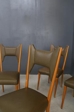 Melchiorre Bega Set of 6 Melchiorre Bega chairs from 1950  - 1065348