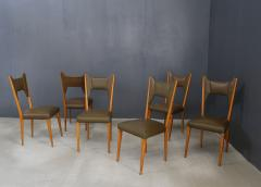 Melchiorre Bega Set of 6 Melchiorre Bega chairs from 1950  - 1065349