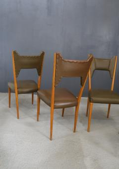 Melchiorre Bega Set of 6 Melchiorre Bega chairs from 1950  - 1065350