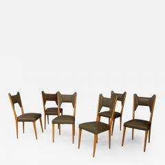 Melchiorre Bega Set of 6 Melchiorre Bega chairs from 1950  - 1065816