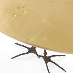 Meret Oppenheim Traccia Bronze and Gold Leaf Italian Table by Meret Oppenheim for Simon Gavina - 1180754