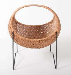 Metal and wicker baby basket - 818913
