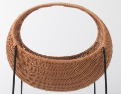 Metal and wicker baby basket - 818914