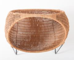 Metal and wicker baby basket - 818919
