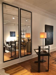 Metal frame wall mirror black - 1265666