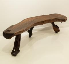 Mexican Live Edge Bench in Solid Rosewood - 761190