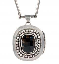 Mexican Modernist Silver Necklace from Taxco by Antonio Pineda - 1300421