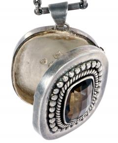 Mexican Modernist Silver Necklace from Taxco by Antonio Pineda - 1300422