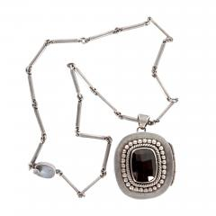 Mexican Modernist Silver Necklace from Taxco by Antonio Pineda - 1300821