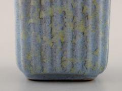 Michael Andersen Marmelade jar in ceramics fluted style with plated silver lid and silver spoon - 1313057