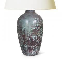 Michael Andersen Sons Plum and Celadon Craquelure Glaze Lamp by Michael Andersen Sons - 1791985