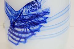 Michael Bang Michael Bang White Blue Glass Lamps - 919565