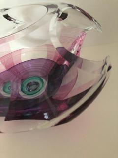 Michael David Contemporary Glass Kit Karbler Michael David Vortex Sculpture Bowl - 1605640