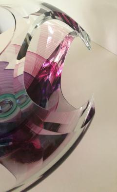 Michael David Contemporary Glass Kit Karbler Michael David Vortex Sculpture Bowl - 1605642