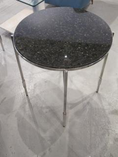 Michael Graves American Modern Polished Chrome Granite Occasional Tables Michael Graves - 666587