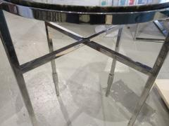 Michael Graves American Modern Polished Chrome Granite Occasional Tables Michael Graves - 666589