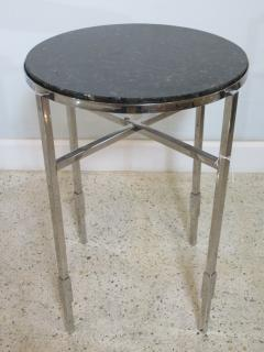 Michael Graves American Modern Polished Chrome Granite Occasional Tables Michael Graves - 666590