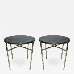 Michael Graves American Modern Polished Chrome Granite Occasional Tables Michael Graves - 733037