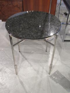 Michael Graves American Modern Polished Chrome Granite Occasional Tables Michael Graves - 683016