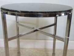 Michael Graves American Modern Polished Chrome Granite Occasional Tables Michael Graves - 683018