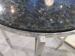 Michael Graves American Modern Polished Chrome Granite Occasional Tables Michael Graves - 683019
