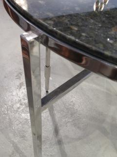 Michael Graves American Modern Polished Chrome Granite Occasional Tables Michael Graves - 683022