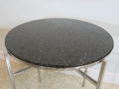 Michael Graves American Modern Polished Chrome Granite Occasional Tables Michael Graves - 683023