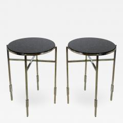 Michael Graves American Modern Polished Chrome Granite Occasional Tables Michael Graves - 725527