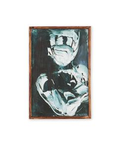 Michael J Dowling Michael J Dowling Contemporary Abstracted Oil Painting Pair on Paper Framed - 1469014